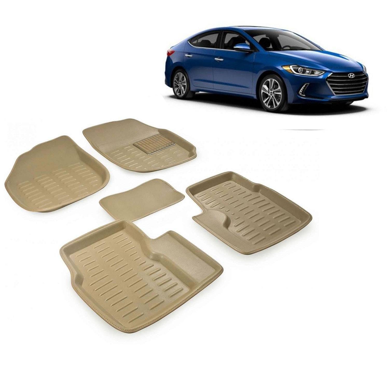 Carhatke Premium Quality Car Floor 3D Mats For Hyundai Elantra Beige