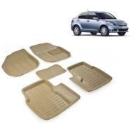 84d3d5aa8ea Carhatke Premium Quality Car Floor 3D Mats For Maruti Swift Dzire-Old-Beige  and