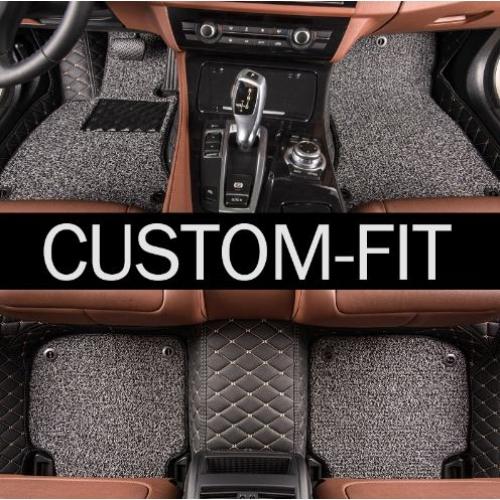 Tata Harrier Premium Diamond Pattern 7D Car Floor Mats (Set of 3, Black)