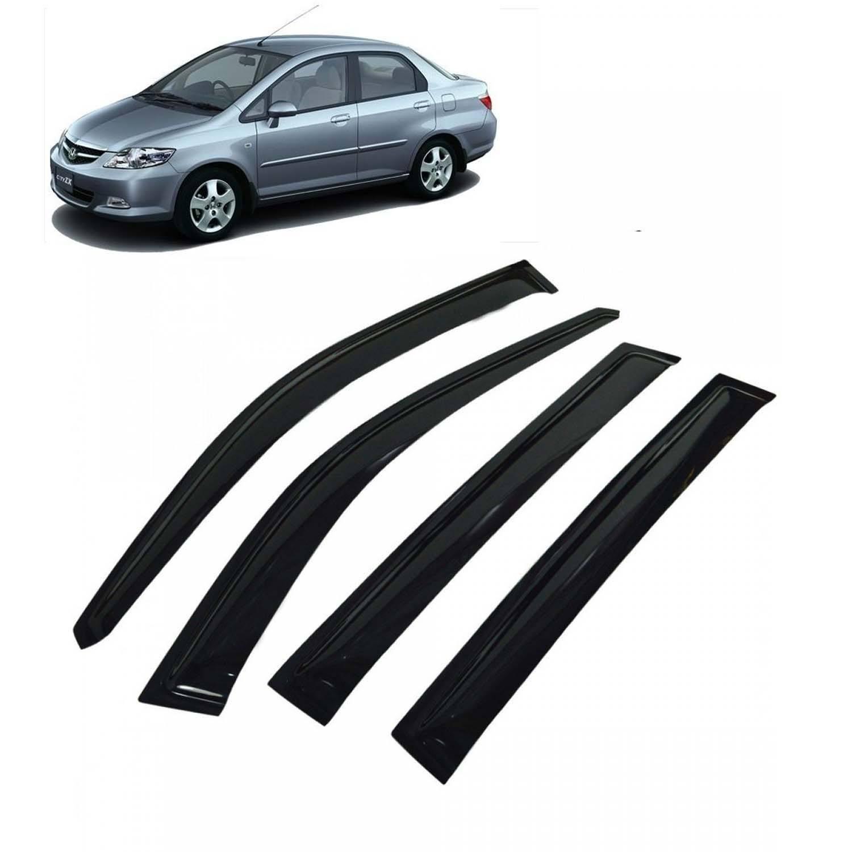 Galio Best Quality Car Window Door Visor For Honda City Zx Set Of 4   Smoke