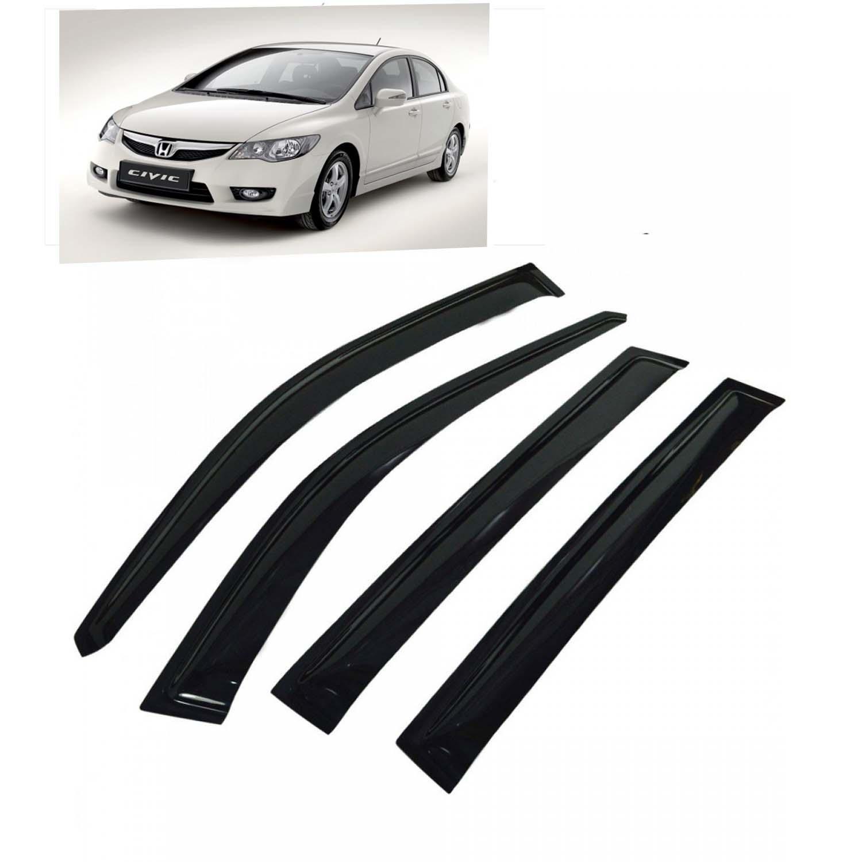 Galio Best Quality Car Window Door Visor For Honda Civic Set Of 4 - Smoke  Color 80fa18c4775