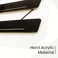 Hyundai Santro Xing Door Foot LED Mirror Finish Black Glossy Scuff Sill Plate Guards (Set of 4Pcs.)