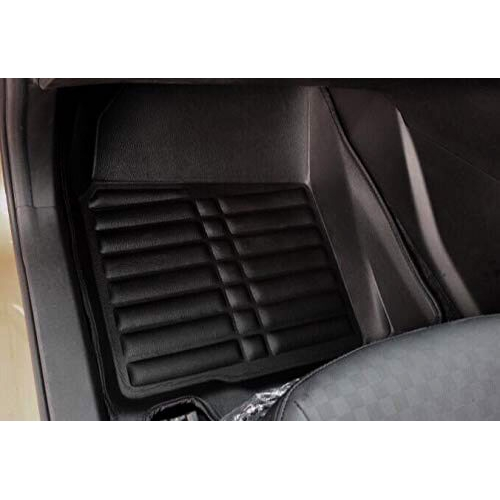 Maruti New Wagon r 2019 Premium 5D Car Floor Mats (Set of 3, Black)