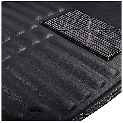 Honda New Jazz 2015 Premium 5D Car Floor Mats (Set of 3, Black)