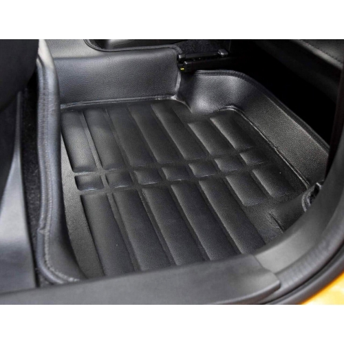 Hyundai Xcent Premium 5D Car Floor Mats (Set of 3, Black)