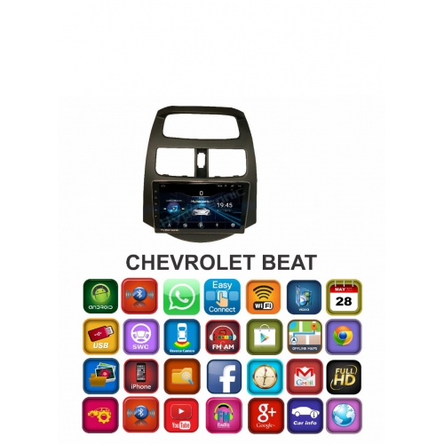 Chevrolet Beat 9 Inches HD Touch Screen Smart Android Stereo (2GB, 16GB) with Stereo Frame By Carhatke