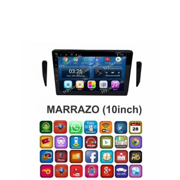 Mahindra Marazzo 9 Inches HD Touch Screen Smart Android Stereo (2GB, 16GB) with Stereo Frame By Carhatke