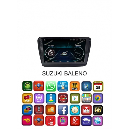 Maruti Suzuki Baleno 8 Inches HD Touch Screen Android Stereo (2GB, 16GB) with Stereo Frame By Carhatke