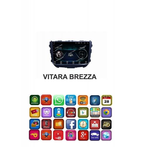 Maruti Suzuki Vitara Brezza 8 Inches HD Touch Screen Android Stereo (2GB, 16GB) with Stereo Frame By Carhatke