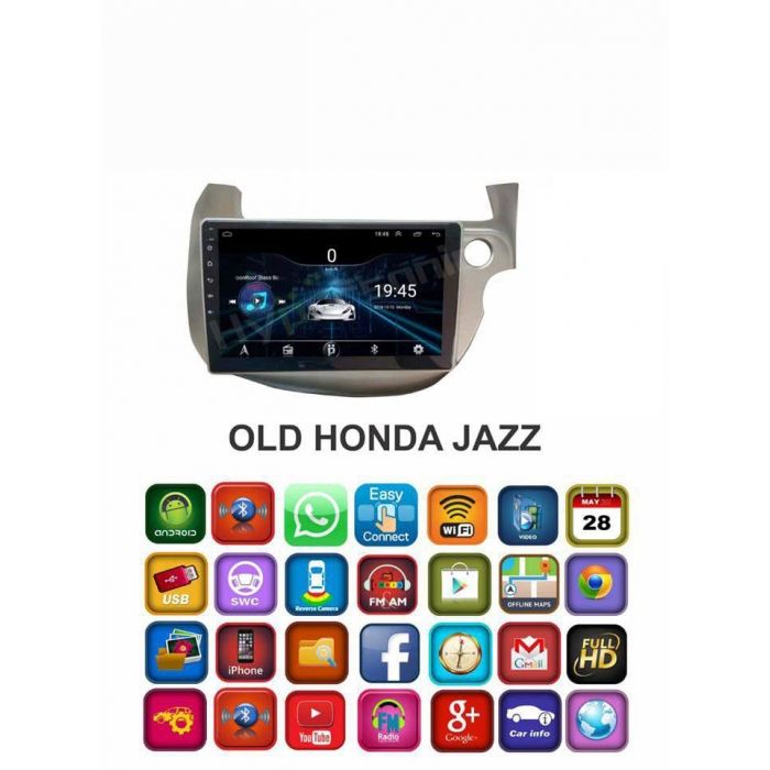 Honda Old Jazz HD 9 Touch Screen Android Stereo (2GB, 16GB) with Stereo Frame By Hypersonic