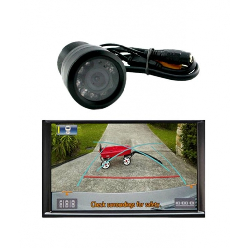 Carhatke 8 LED Night Vision Waterproof Reverse Parking Camera For Rear View for All Cars