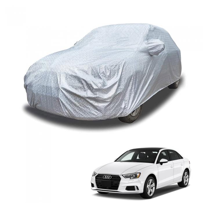 Carhatke Spyro Silver 100% Waterproof Car Body Cover with Mirror Pocket for Audi A3