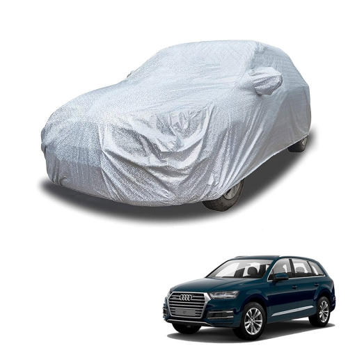Carhatke Spyro Silver 100% Waterproof Car Body Cover with Mirror Pocket for Audi Q7