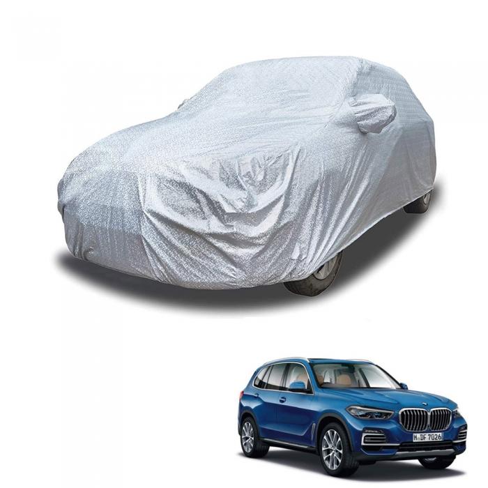 Carhatke Spyro Silver 100% Waterproof Car Body Cover with Mirror Pocket for BMW X5