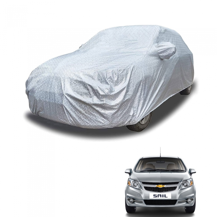 Carhatke Spyro Silver 100% Waterproof Car Body Cover with Mirror Pocket for Chevrolet Sail