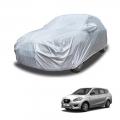 Carhatke Spyro Silver 100% Waterproof Car Body Cover with Mirror Pocket for Datsun Go Plus
