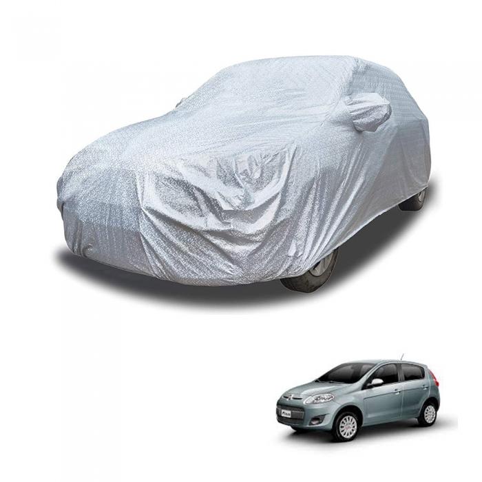 Carhatke Spyro Silver 100% Waterproof Car Body Cover with Mirror Pocket for Fiat Palio