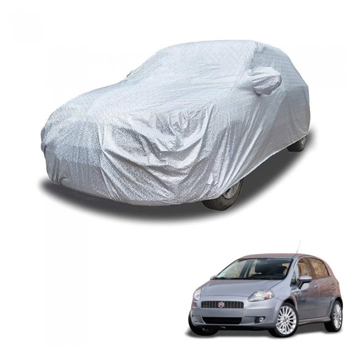 Carhatke Spyro Silver 100% Waterproof Car Body Cover with Mirror Pocket for Fiat Punto