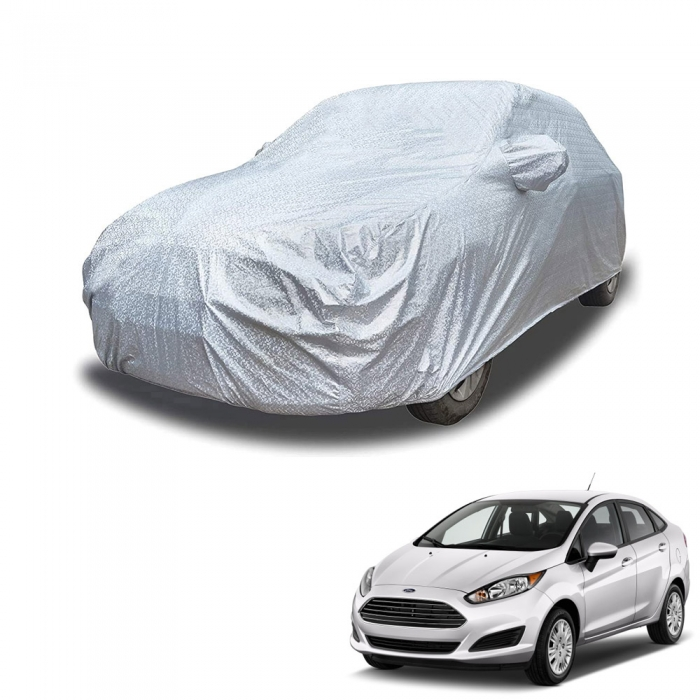 Carhatke Spyro Silver 100% Waterproof Car Body Cover with Mirror Pocket for Ford Fiesta