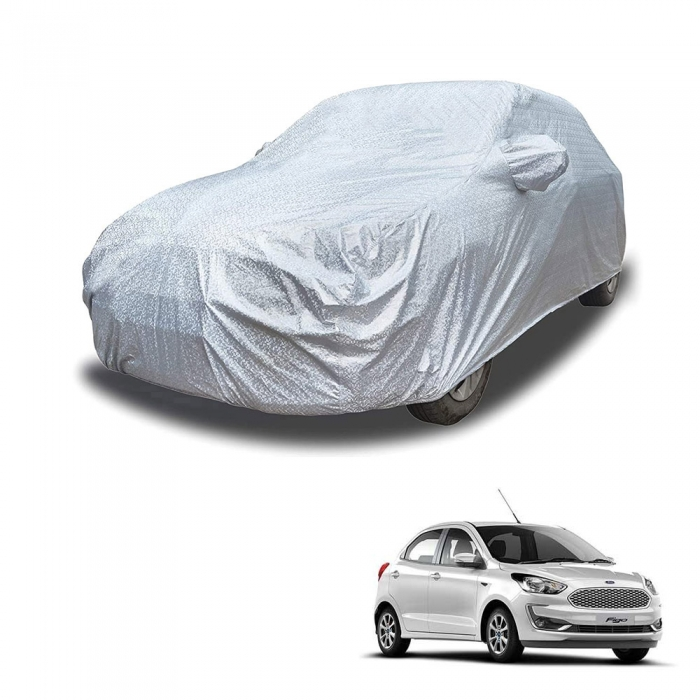 Carhatke Spyro Silver 100% Waterproof Car Body Cover with Mirror Pocket for Ford Aspire
