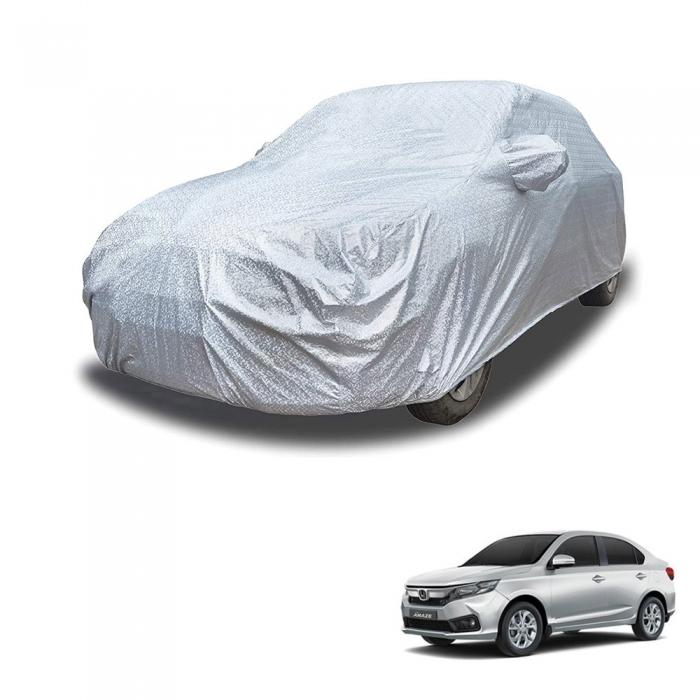 Carhatke Spyro Silver 100% Waterproof Car Body Cover with Mirror Pocket for Honda Amaze