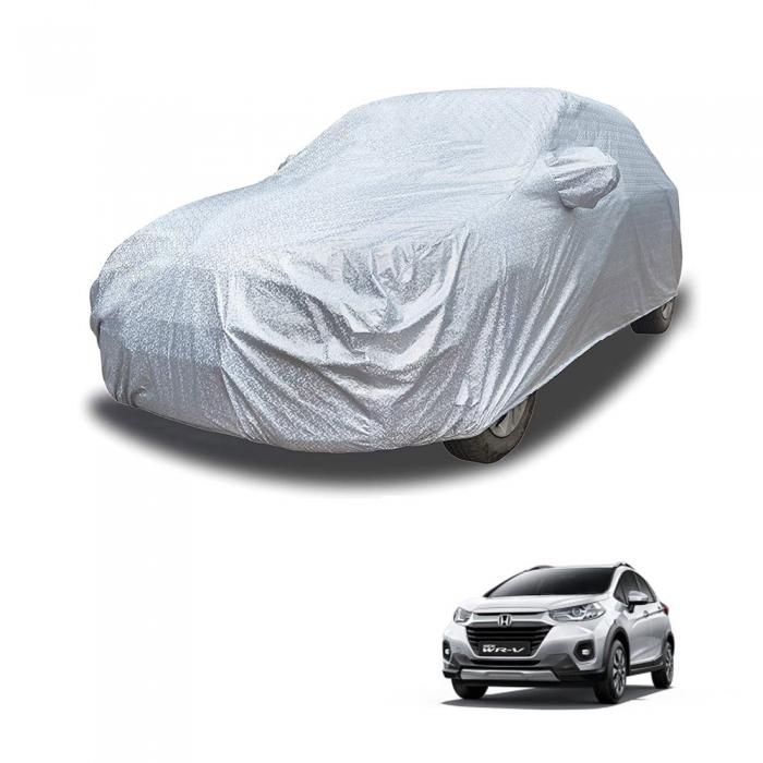 Carhatke Spyro Silver 100% Waterproof Car Body Cover with Mirror Pocket for Honda WRV