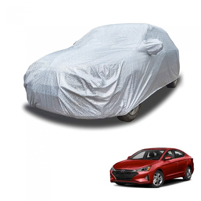 Carhatke Spyro Silver 100% Waterproof Car Body Cover with Mirror Pocket for Hyundai Elantra
