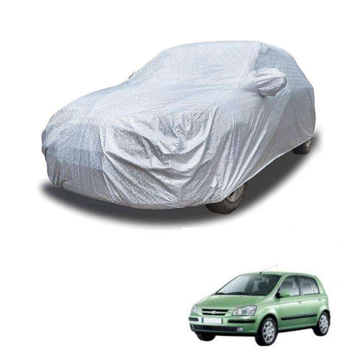 Carhatke Spyro Silver 100% Waterproof Car Body Cover with Mirror Pocket for Hyundai Getz
