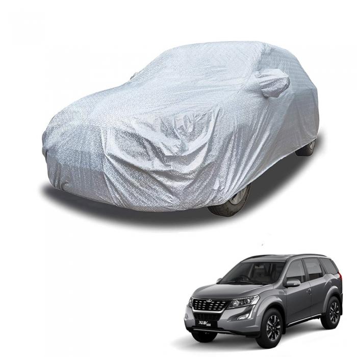 Carhatke Spyro Silver 100% Waterproof Car Body Cover with Mirror Pocket for Mahindra XUV500