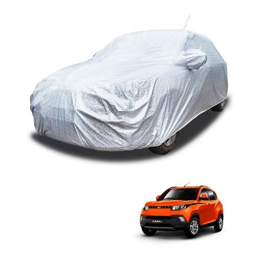 Carhatke Spyro Silver 100% Waterproof Car Body Cover with Mirror and Antenna Pocket for Mahindra KUV 100