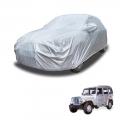 Carhatke Spyro Silver 100% Waterproof Car Body Cover with Mirror Pocket for Mahindra Marshall