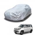 Carhatke Spyro Silver 100% Waterproof Car Body Cover with Mirror Pocket for Mahindra TUV 300