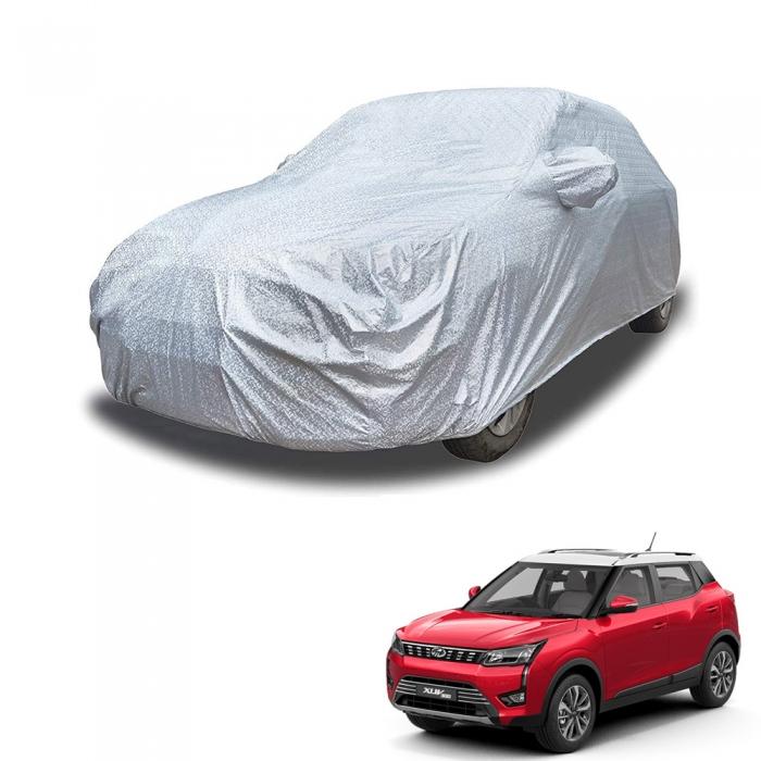 Carhatke Spyro Silver 100% Waterproof Car Body Cover with Mirror Pocket for Mahindra XUV 300