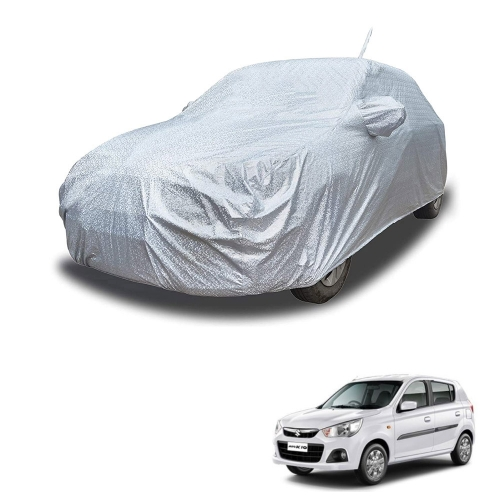Carhatke Spyro Silver 100% Waterproof Car Body Cover with Mirror Pocket for Maruti Alto K-10