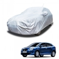 Carhatke Spyro Silver 100% Waterproof Car Body Cover with Mirror and Antenna Pocket for Maruti Baleno