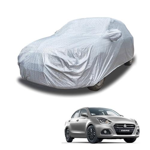 Carhatke Spyro Silver 100% Waterproof Car Body Cover with Mirror Pocket for Maruti Suzuki Dzire
