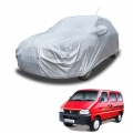 Carhatke Spyro Silver 100% Waterproof Car Body Cover with Mirror and Antenna Pocket for Maruti Suzuki Eeco
