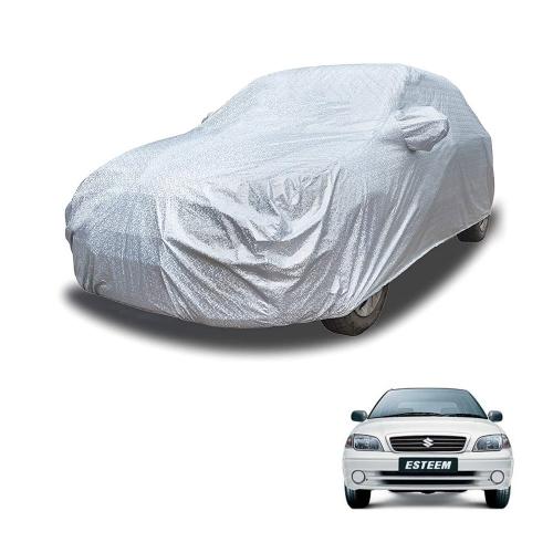 Carhatke Spyro Silver 100% Waterproof Car Body Cover with Mirror Pocket for Maruti Esteem