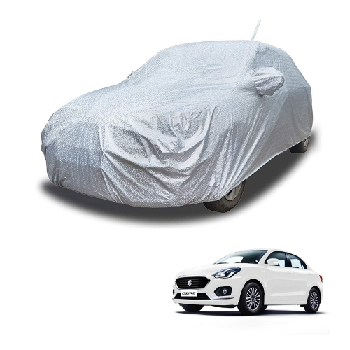 Carhatke Spyro Silver 100% Waterproof Car Body Cover with Mirror and Antenna Pocket for Maruti New Dzire