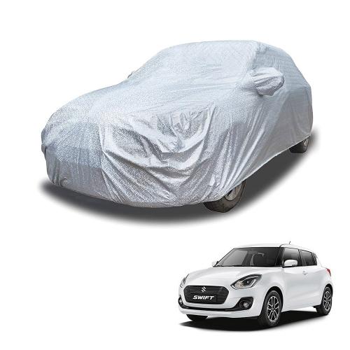Carhatke Spyro Silver 100% Waterproof Car Body Cover with Mirror Pocket for Maruti New Swift
