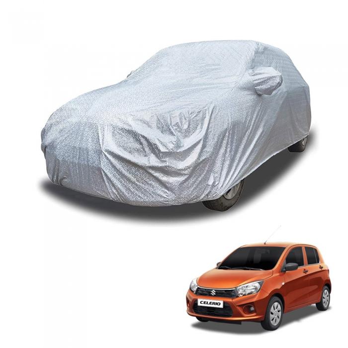 Carhatke Spyro Silver 100% Waterproof Car Body Cover with Mirror Pocket for Maruti Celerio