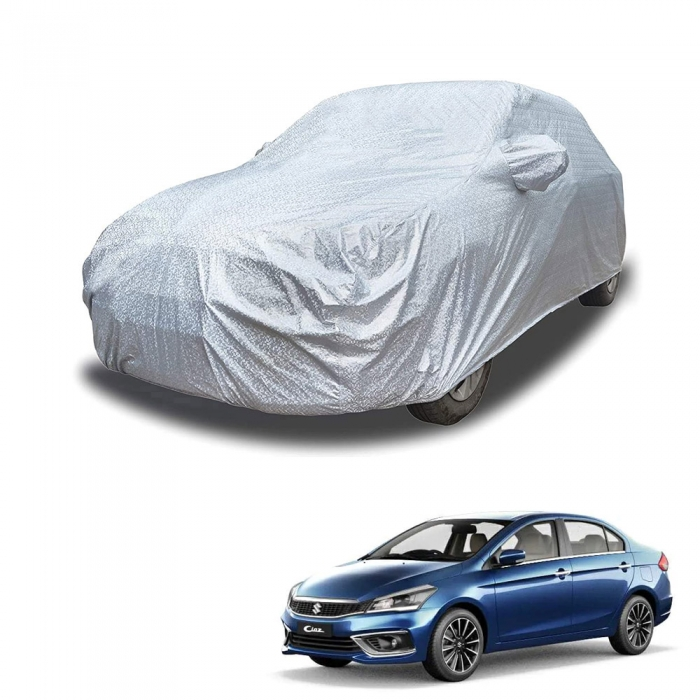 Carhatke Spyro Silver 100% Waterproof Car Body Cover with Mirror Pocket for Maruti Suzuki Ciaz