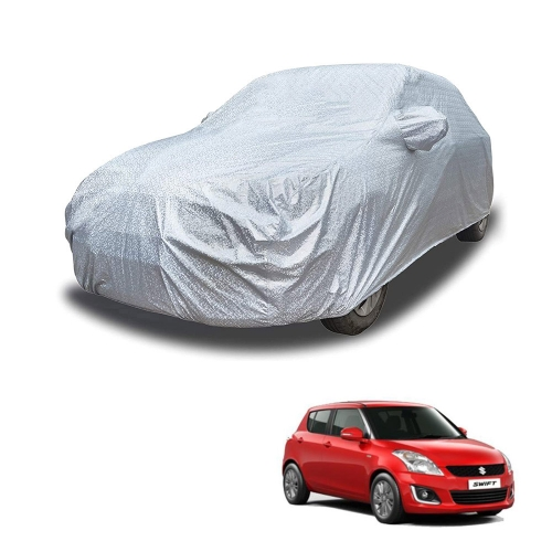 Carhatke Spyro Silver 100% Waterproof Car Body Cover with Mirror Pocket for Maruti Suzuki Old Swift