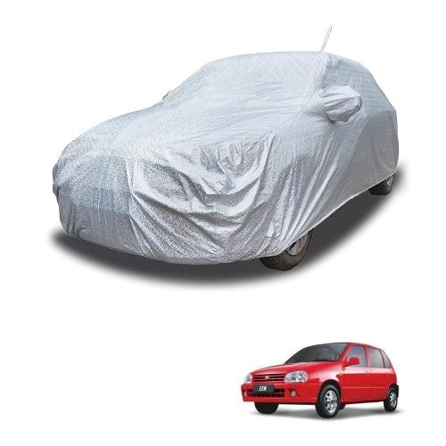 Carhatke Spyro Silver 100% Waterproof Car Body Cover with Mirror Pocket for Maruti Zen