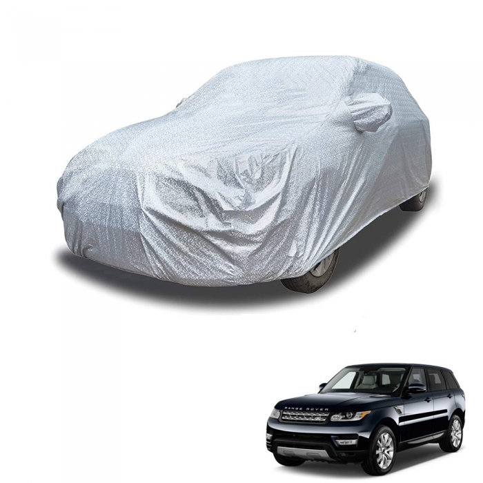 Carhatke Spyro Silver 100% Waterproof Car Body Cover with Mirror Pocket for Land Rover Range Rover Sport