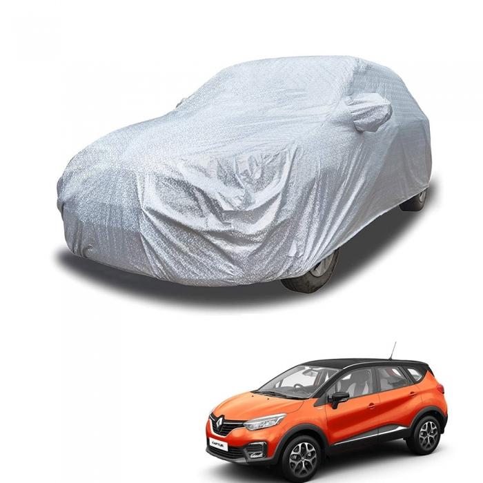 Carhatke Spyro Silver 100% Waterproof Car Body Cover with Mirror Pocket for Renault Captur