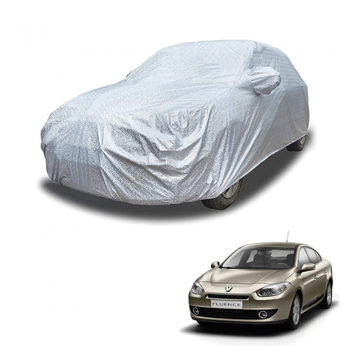 Carhatke Spyro Silver 100% Waterproof Car Body Cover with Mirror Pocket for Renault Fluence