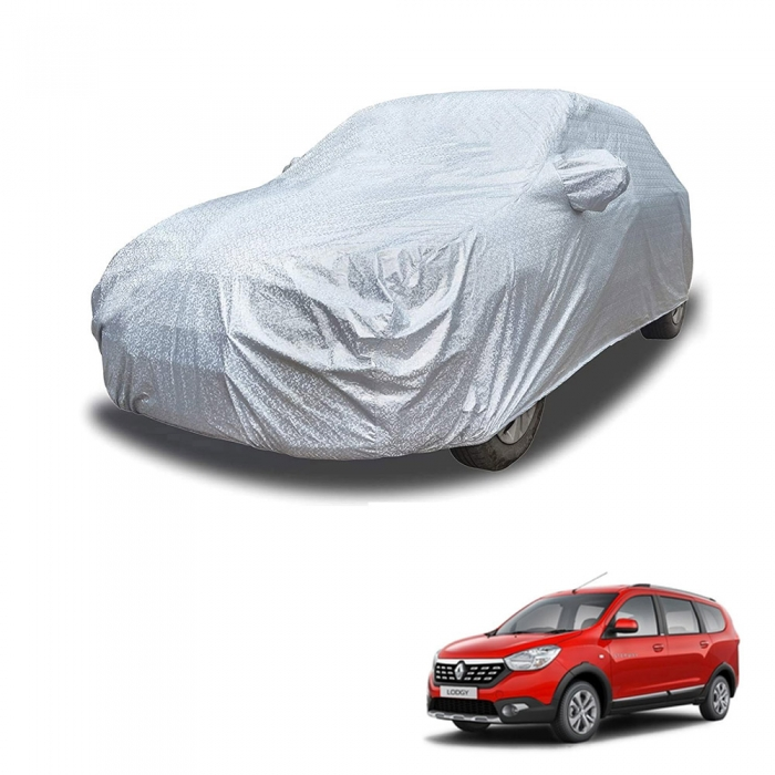 Carhatke Spyro Silver 100% Waterproof Car Body Cover with Mirror Pocket for Renault Lodgy