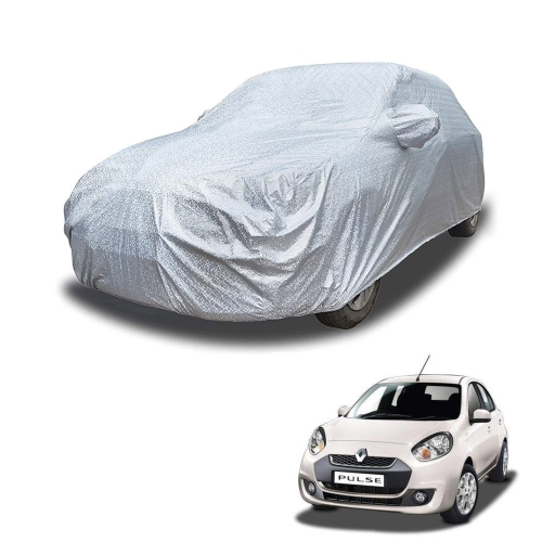 Carhatke Spyro Silver 100% Waterproof Car Body Cover with Mirror Pocket for Renault Pulse