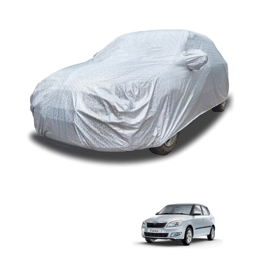 Carhatke Spyro Silver 100% Waterproof Car Body Cover with Mirror Pocket for Skoda Fabia